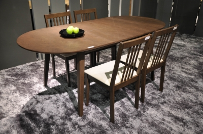 Solid Rubberwood Furniture Dining Table And Chairs Jatat